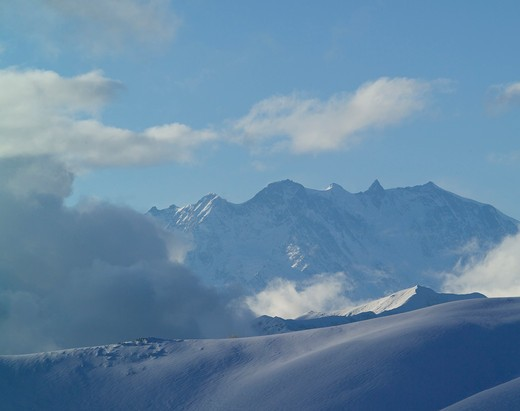 Stock Photo: 4261-97870 Winter landscape, Mottarone, Piedmont, Italy