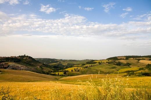 Stock Photo: 4261-98182 Foreshortening of Monticchiello, Tuscany, Italy