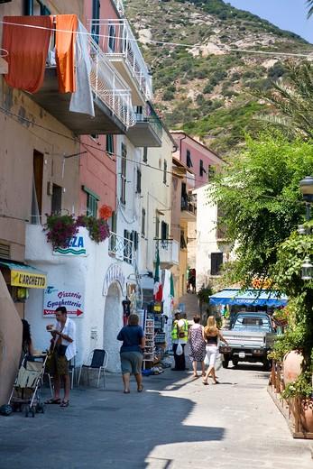 Stock Photo: 4261-98707 Foreshortening, Giglio Porto, Giglio island, Tuscany, Italy