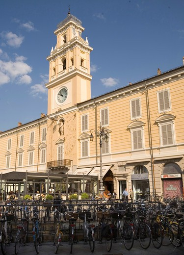 The Governor's Palace on Piazza Garibaldi, Parma, Emilia Romagna, Italy : Stock Photo