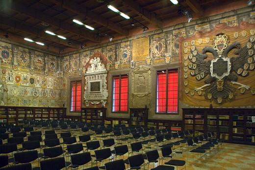 Stock Photo: 4261-98857 Archiginnasio Palace, Bologna, Emilia Romagna, Italy