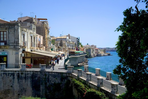 Stock Photo: 4261-99282 Papiri fountain, Siracusa, Sicily, Italy