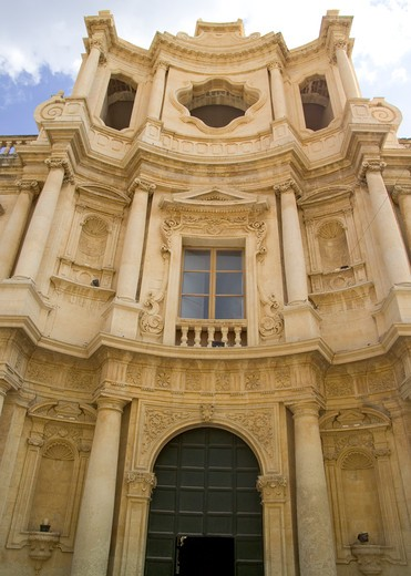 San Carlo church, Noto, Sicily, Italy : Stock Photo