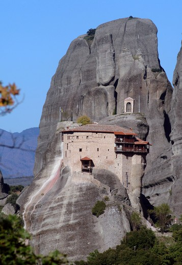 Stock Photo: 4261-99342 Monastery, Meteora, UNESCO World Heritage Site, Greece, Europe