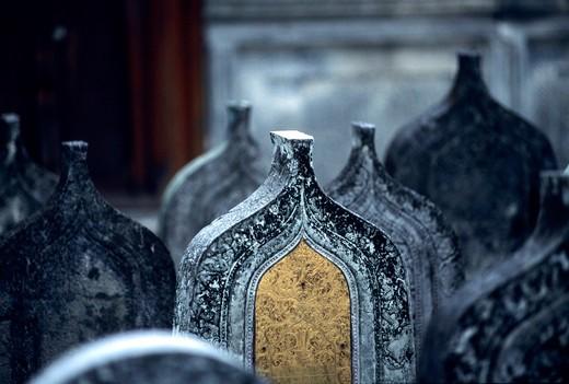 Cemetery, Maldives, Indian Ocean, Asia : Stock Photo