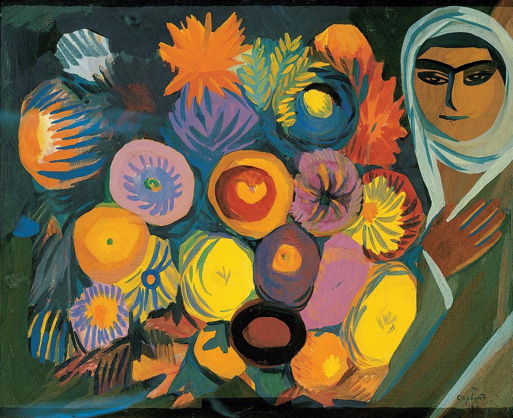 Stock Photo: 4266-10058 Sarjan, Martiros Sergeyevich (1880-1972) State A. Radishchev Art Museum, Saratov 1913 55x66 Tempera on canvas Fauvism Armenia
