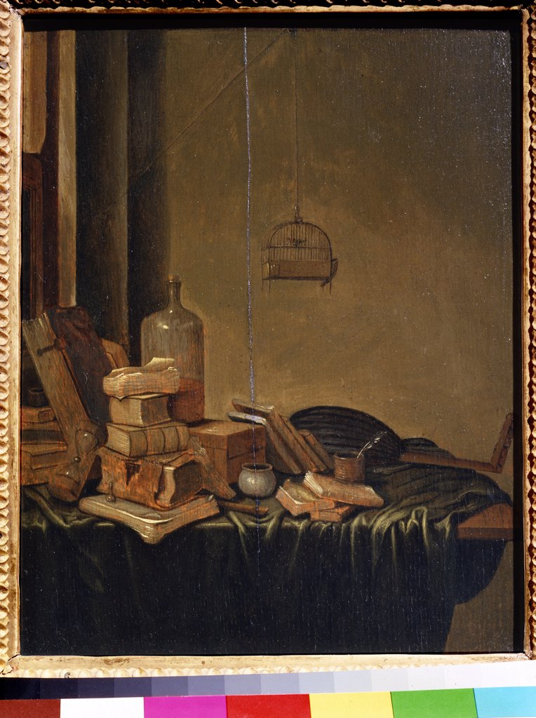 Still life by Gerrit van Vucht, oil on wood, 1600/20-circa1697, 17th century, Russia, Moscow, State Pushkin Museum of Fine Arts, 34x28 : Stock Photo