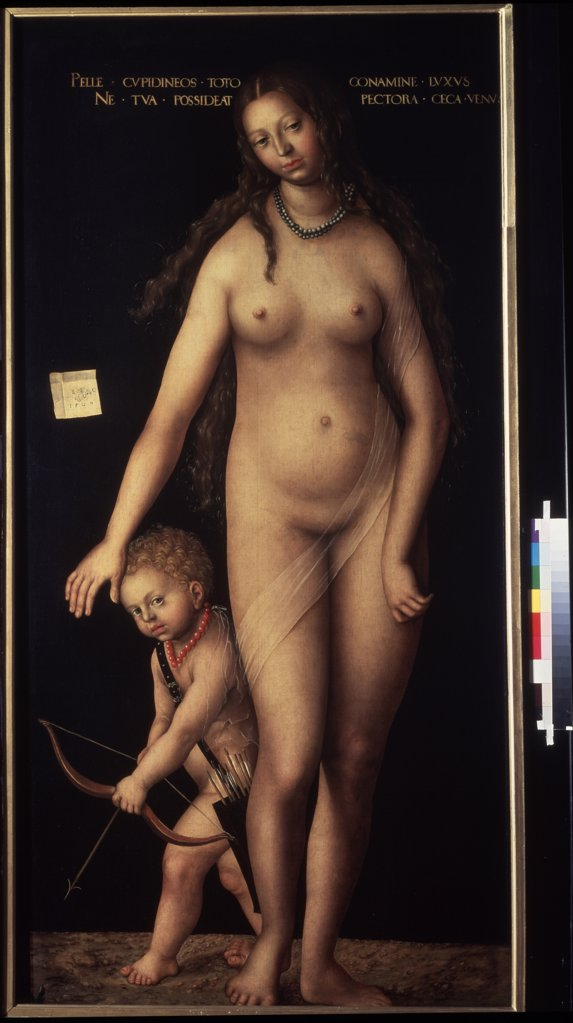 Stock Photo: 4266-1011 Aphrodite by Lucas Cranach, 1472-1553, Russia, St. Petersburg, 213x102