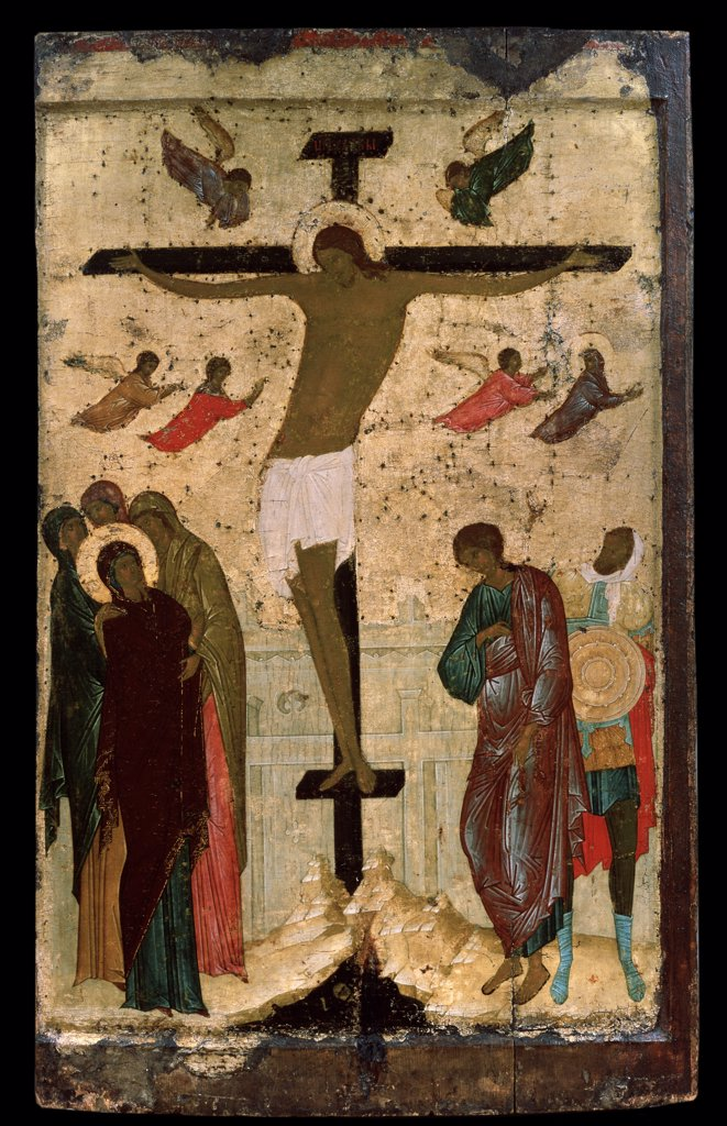 Stock Photo: 4266-10241 The crucifixion by Dionysius, tempera on panel, 1500, circa 1450 before 1508, Russia, Moscow, State Tretyakov Gallery, Moscow, 85x52