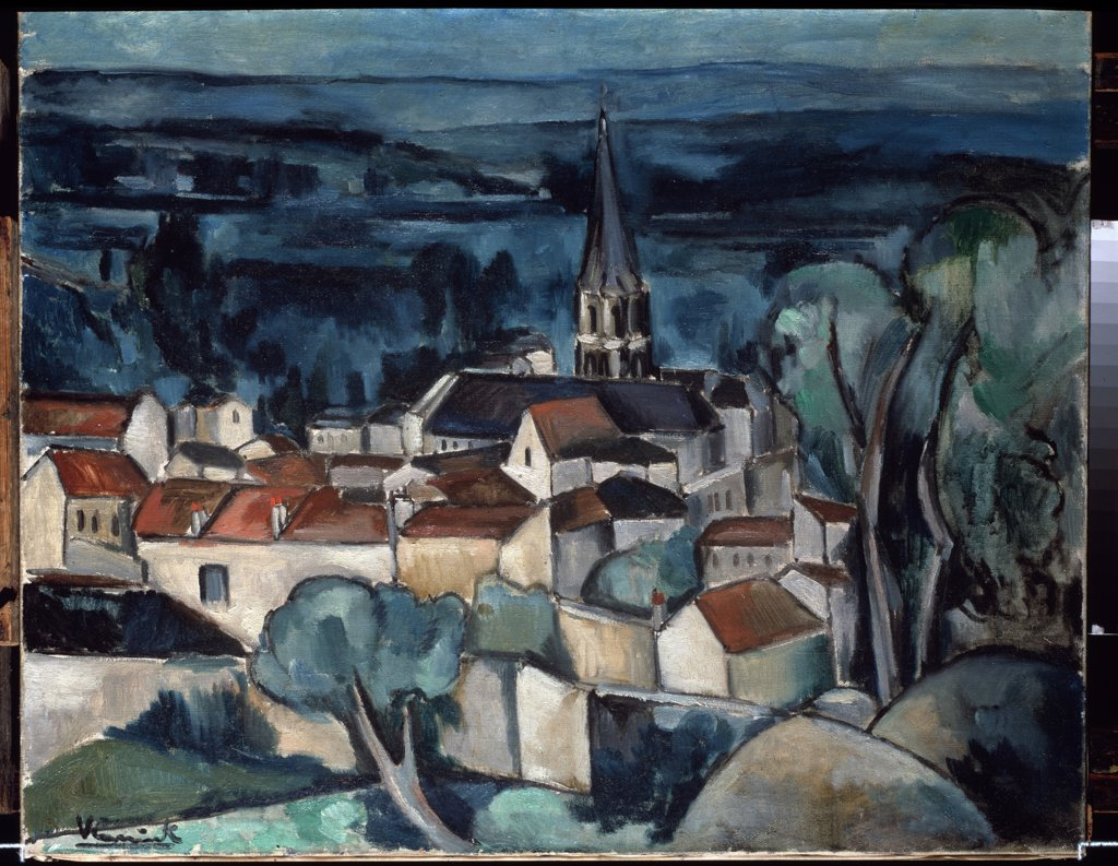 Vlaminck, Maurice, de (1876-1958) State Hermitage, St. Petersburg 1909 73x92 Oil on canvas Fauvism France  : Stock Photo