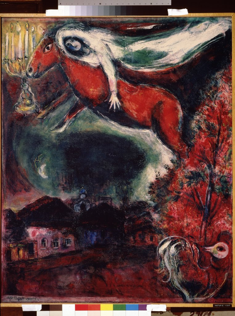 Stock Photo: 4266-10567 Chagall, Marc (1887-1985) State A. Pushkin Museum of Fine Arts, Moscow 1947 89,6x72,6 Oil on canvas Modern Russia