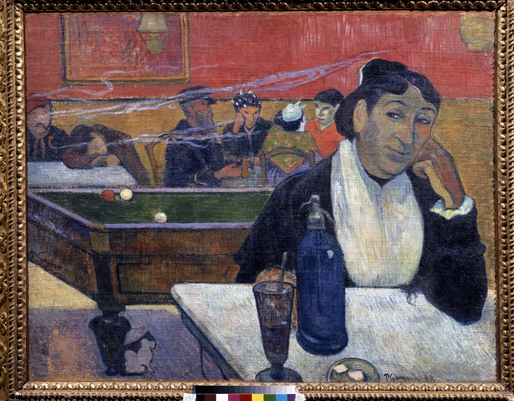 Stock Photo: 4266-10571 Cafe in Arles by Paul Eugene Henri Gauguin, oil on canvas, 1888, 1848-1903, Russia, Moscow, State Pushkin Museum of Fine Arts, 72x92