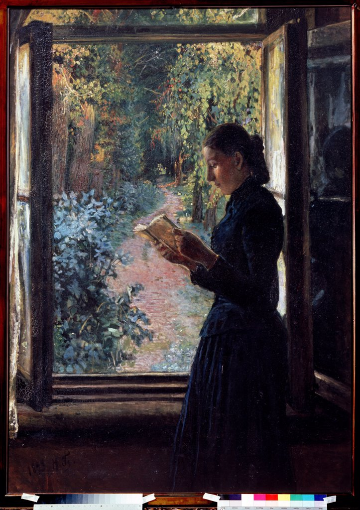 Stock Photo: 4266-10705 Natalia Petrunkevich by Nikolai Nikolayevich Ge, Oil on canvas, 1892-1893, 1831-1894, Russia, Moscow, State Tretyakov Gallery, 161, 8x114