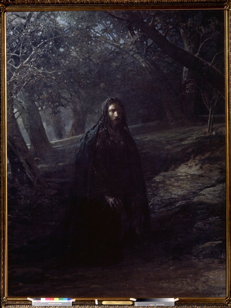 Stock Photo: 4266-10752 In Gethsemane by Nikolai Nikolayevich Ge, oil on canvas, 1869-1880, 1831-1894, Russia, Moscow , State Tretyakov Gallery, 258x198, 5