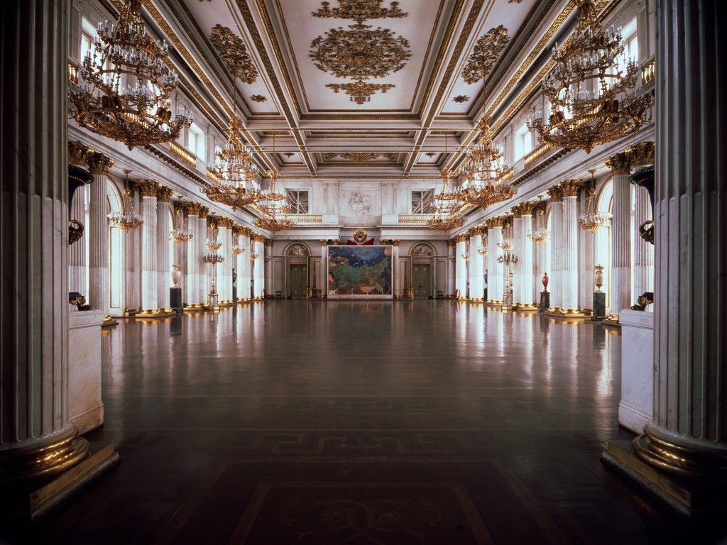 Stock Photo: 4266-10943 Great Throne Hall by Giacomo Antonio Domenico Quarenghi, 1837-1842 , 1744-1817, Russia, St Petersburg, State Hermitage