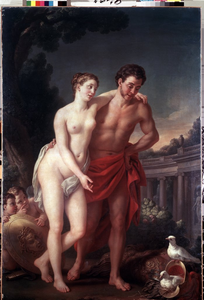 Stock Photo: 4266-1106 Walk by Joseph Marie Vien, Oil on canvas, 1767-1768, 1716-1809, Russia, St. Petersburg, State Hermitage, 225x151