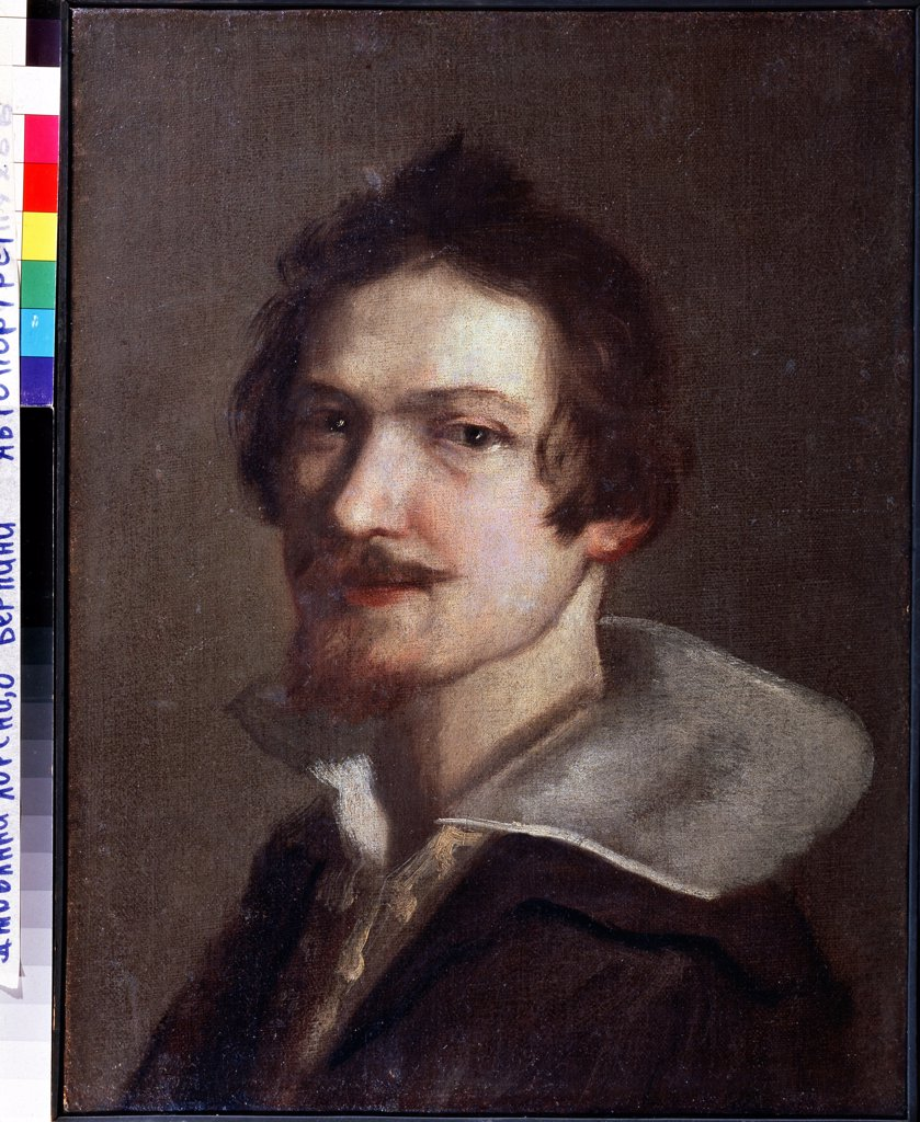Stock Photo: 4266-11178 Self-portrait by Gianlorenzo Bernini, Oil on canvas, 1598-1680, Russia, Serpukhov, State Museum of History and Art, 52x39, 5