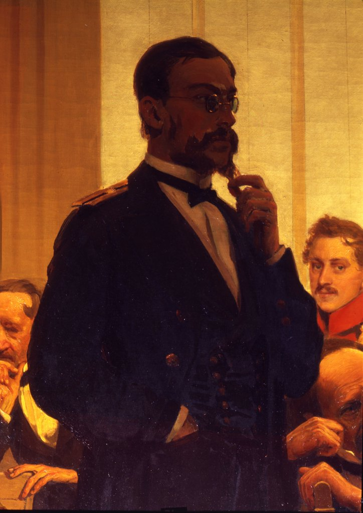 Stock Photo: 4266-11373 Portrait of Rimsky-Korsakov by Ilya Yefimovich Repin, oil on canvas, 1872, 1844-1930, Russia, Moscow , State Conservatory