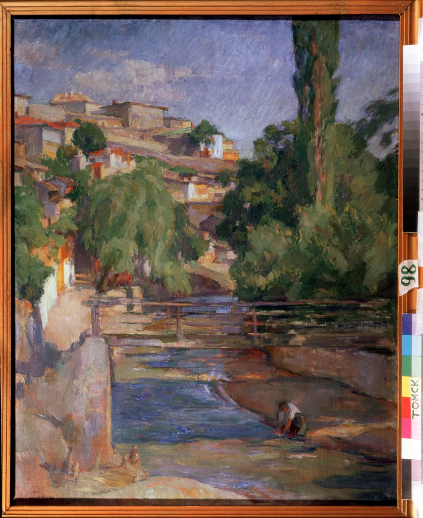 Stock Photo: 4266-11380 At river by Osip Emmanuilovich Braz, Oil on canvas, 1912, 1872-1936, Russia, Tomsk , State Art Museum, 96, 4x74, 2