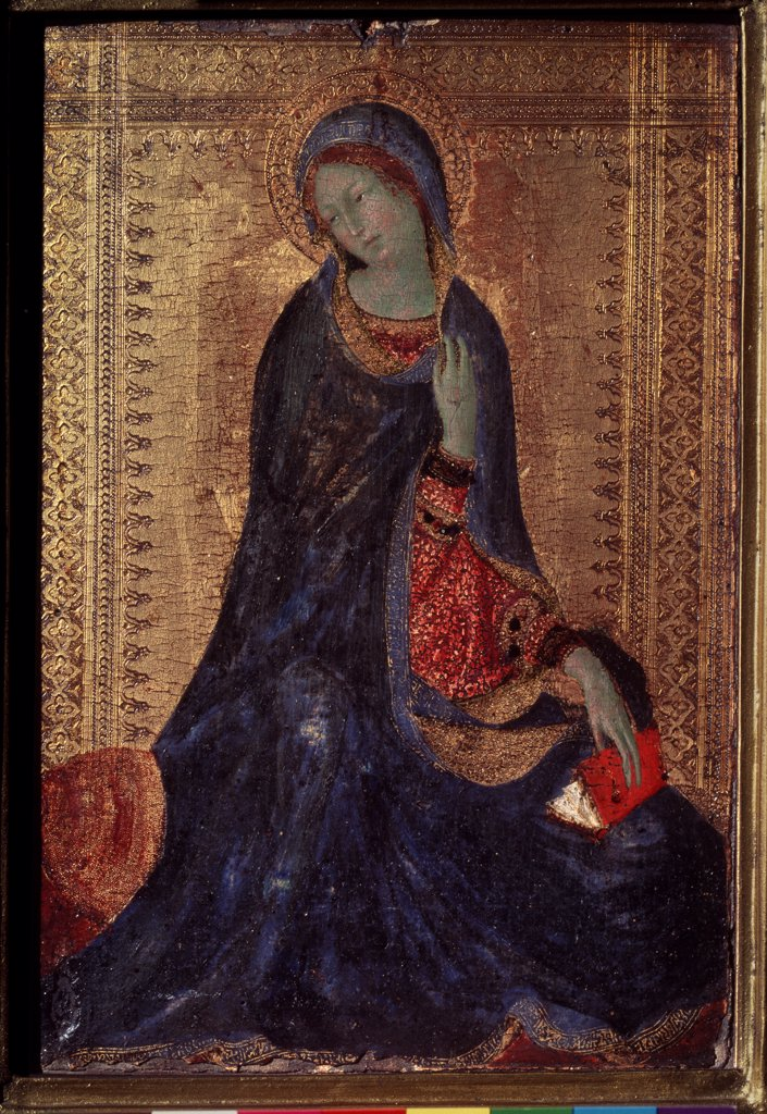 Stock Photo: 4266-1156 Madonna by Simone di Martini, Tempera on panel, 1280/85-1344, 14th century, Russia, St. Petersburg, State Hermitage, 30, 5x21, 5