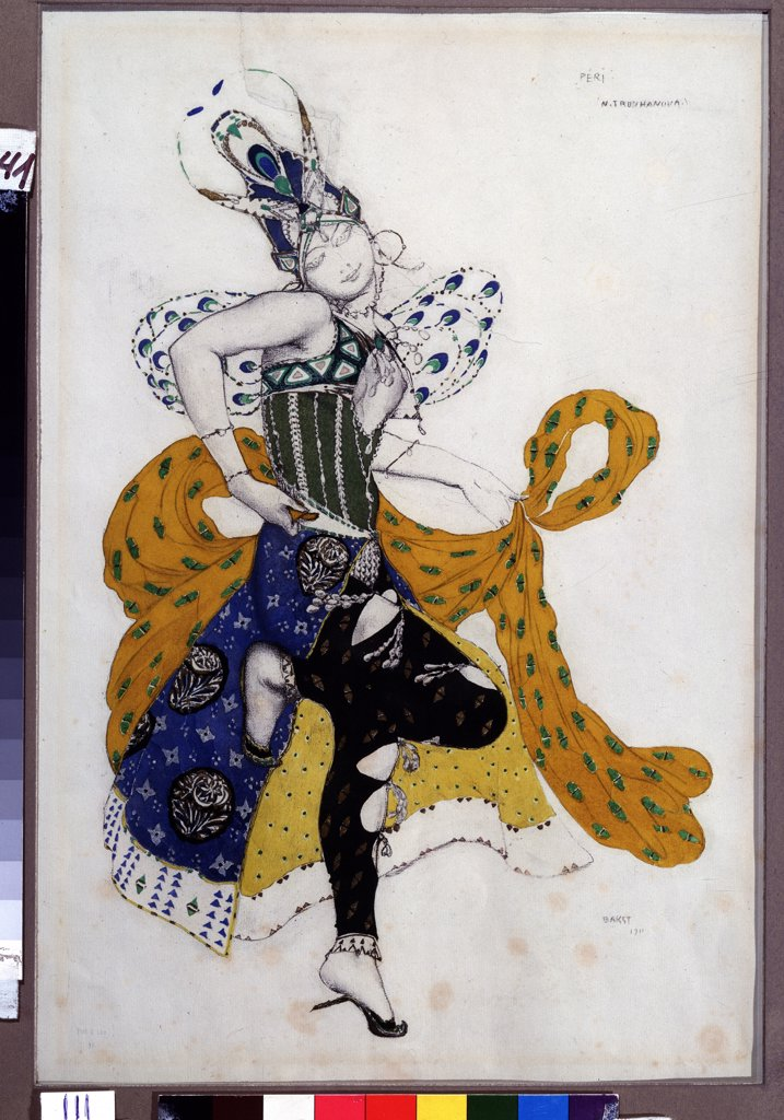 Stock Photo: 4266-11625 Bakst, Leon (1866-1924) Wadsworth Athenaeum, Hartford 1911 68x48,5 Pencil, watercolour, gouache, gold and silver colours on paper