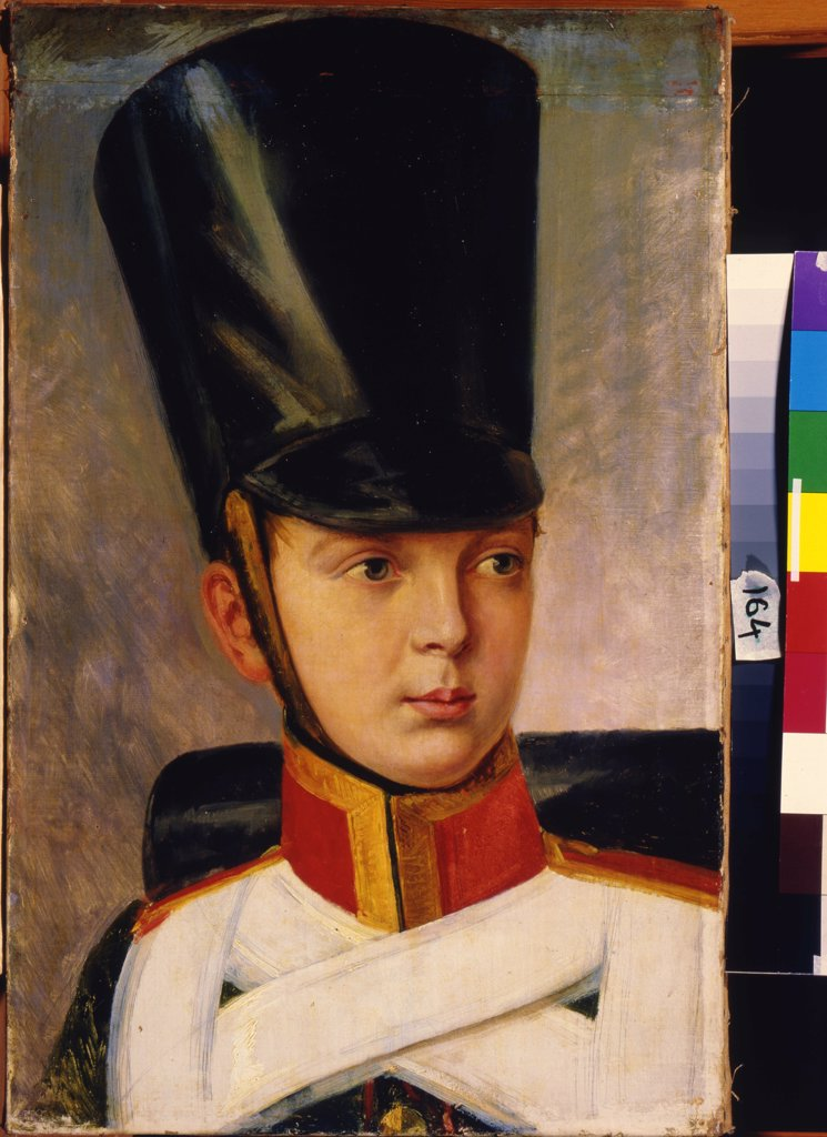 Portrait of Emperor Alexander II by Alexander Ivanovich Sauerweid, oil on canvas , 1830, 1783-1844, Russia, Saratov , State A. Radishchev Art Museum, 56x36 : Stock Photo