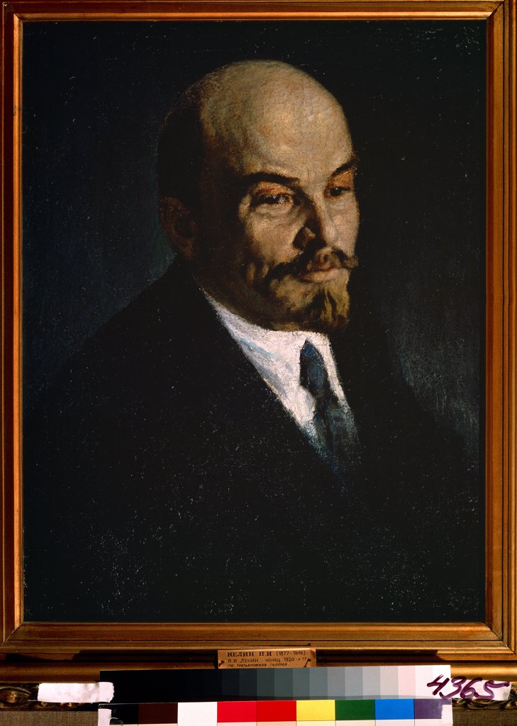 Stock Photo: 4266-11723 Portrait of Vladimir Ilyich Lenin by Pyotr Ivanovich Kelin, oil on canvas , 1920s, 1874-1946, Russia, Moscow , State Tretyakov Gallery