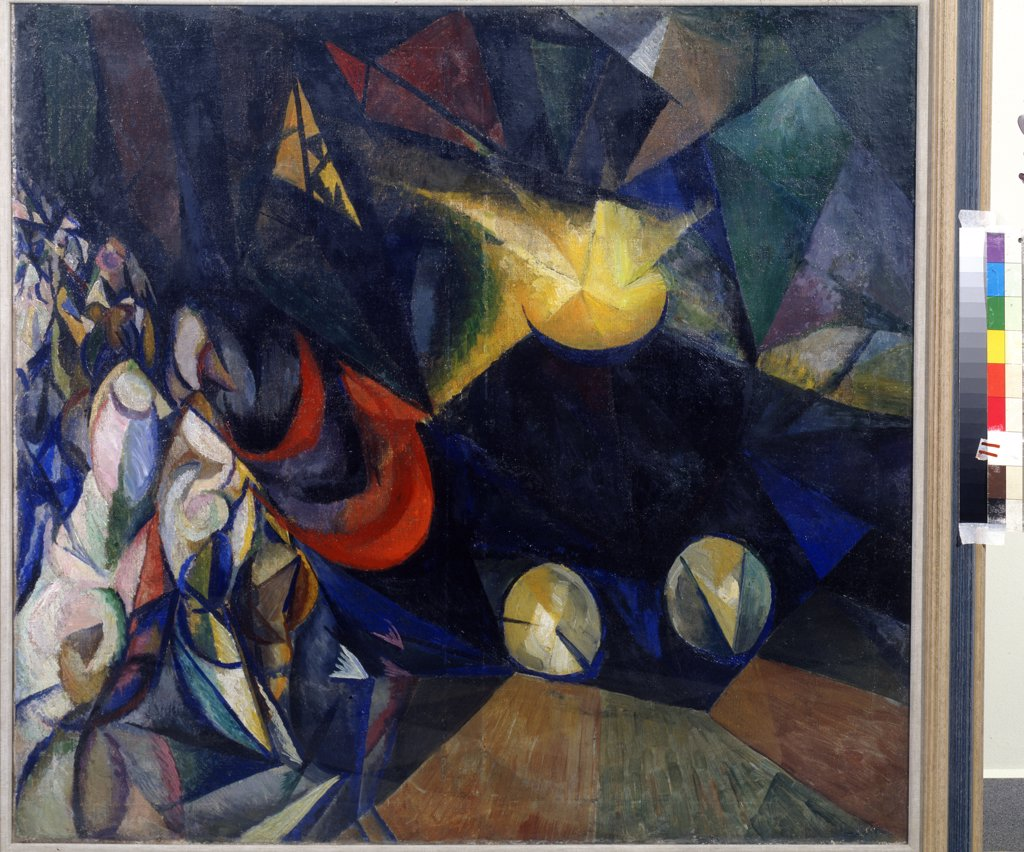 Bogomazov, Alexander Konstantinovich (1880-1930) Private Collection 1915 100x105 Oil on canvas Russian avant-garde Russia  : Stock Photo