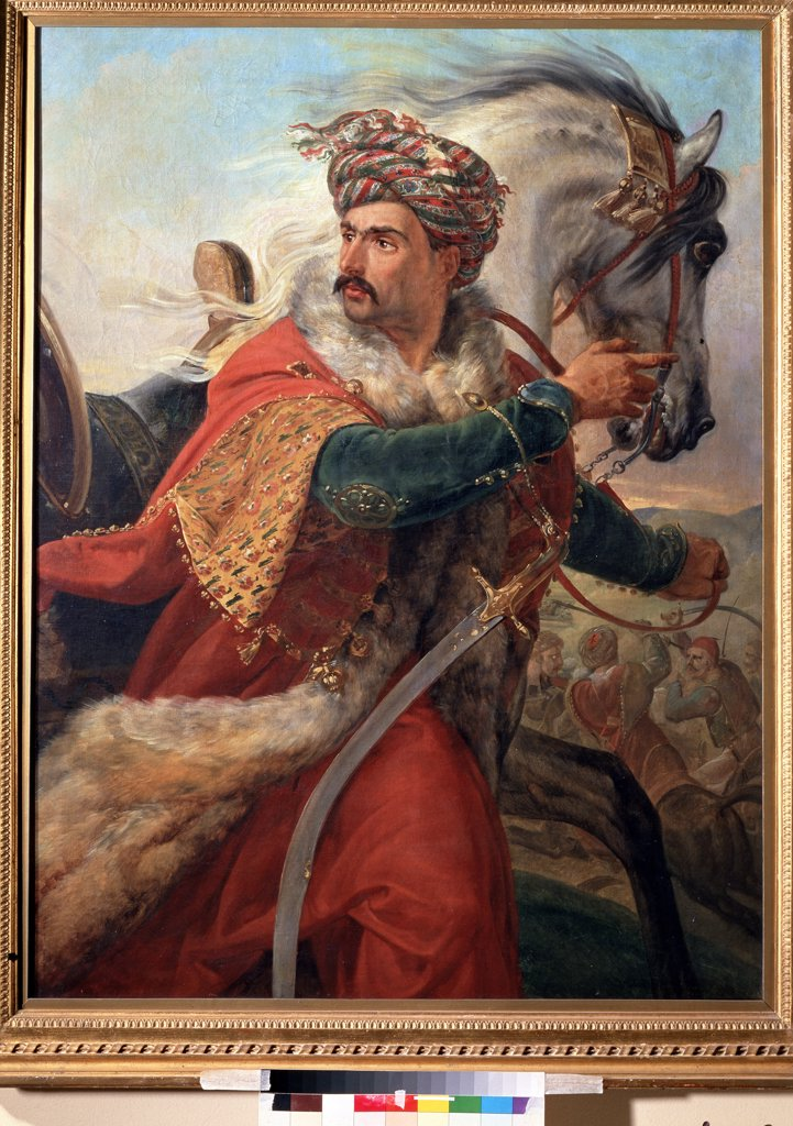 Stock Photo: 4266-11945 Sultan Mameluk by Horace Vernet, oil on canvas , 1830s, 1789-1863, Russia, Moscow , State A. Pushkin Museum of Fine Arts, 126x99