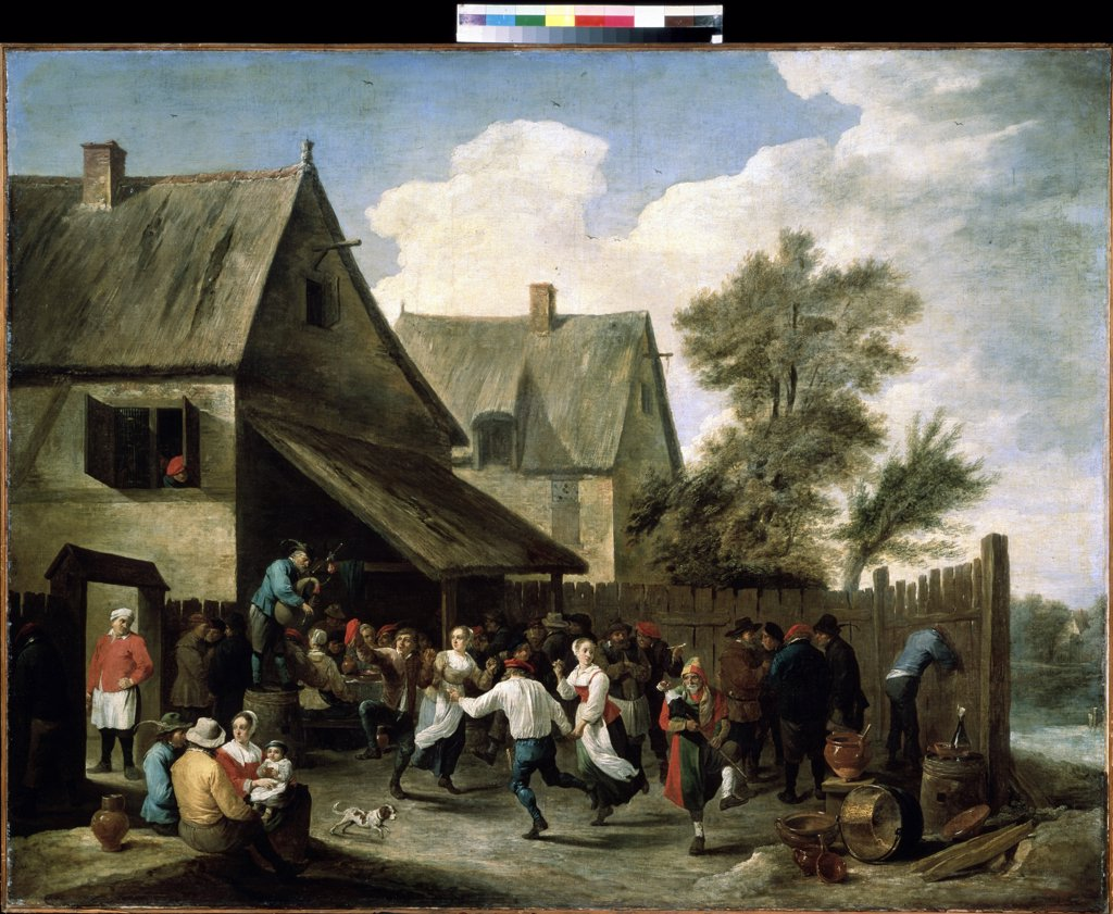 Stock Photo: 4266-12285 Traditional dancing by David Teniers the Younger, oil on canvas, circa 1650, 1610-1690, Russia, Moscow, State A. Pushkin Museum of Fine Arts, 116x148