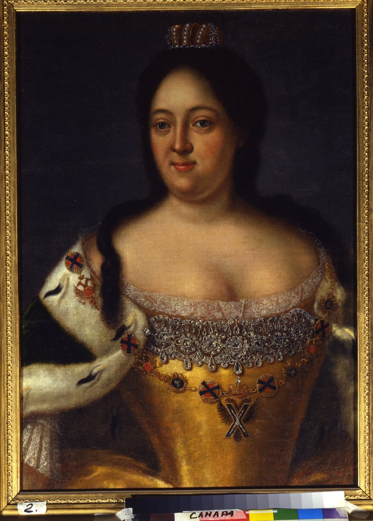 Portrait of Anna Ioannovna by Johann-Heinrich Wedekind, oil on canvas, 17th century, 18th century, 1674-1736, Russia, Samara, State Art Museum, 76x57 : Stock Photo