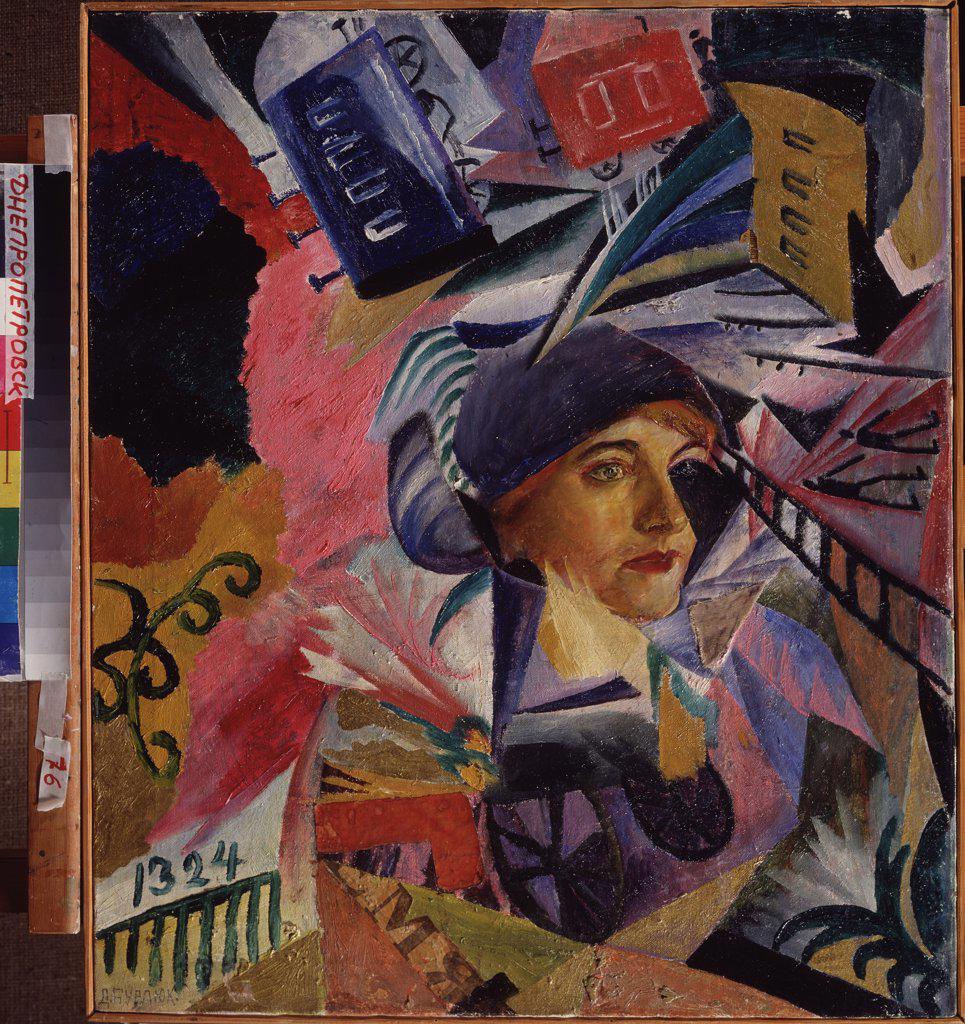 Stock Photo: 4266-12497 Burliuk, David Davidovich (1882-1967) State Art Museum, Dnepropetrovsk 1918 69x59 Oil on canvas Futurism Russia