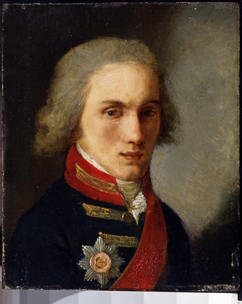 Stock Photo: 4266-12542 Portrait of Pyotr Vyazemsky by Salvatore Tonci, Oil on cardboard, 1756-1844, Russia, Moscow, State Central Literary Museum, 15, 7x13