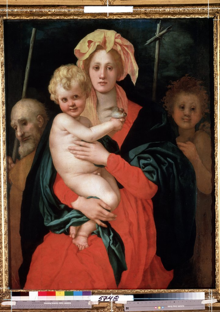 Stock Photo: 4266-12670 Virgin Mary with Jesus as infant by Pontormo, oil on canvas, 1520s, 1494-1557, Florentine School, Russia, St Petersburg, State Hermitage, 120x98, 5
