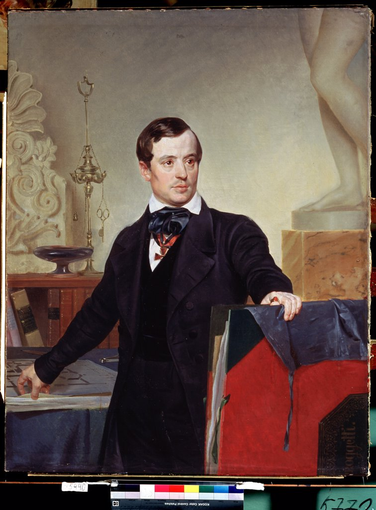 Stock Photo: 4266-12690 Self-portrait by Karl Pavlovich Briullov, oil on canvas, 1799-1852, 19th century, Russia, St Petersburg, State Russian Museum, 123, 5x97, 5
