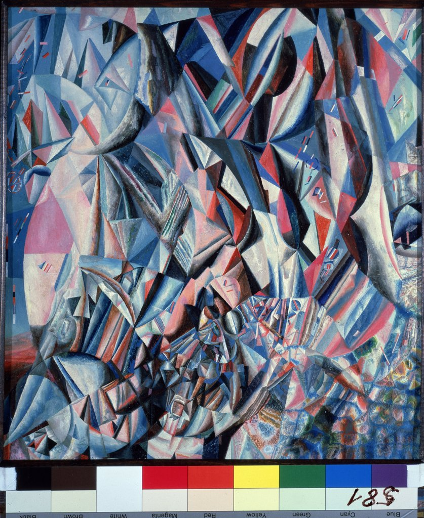 Stock Photo: 4266-12717 Filonov, Pavel Nikolayevich (1883-1941) State Russian Museum, St. Petersburg 1920-1921 41x37,5 Oil on playwood Russian avant-garde Russia Abstract Art