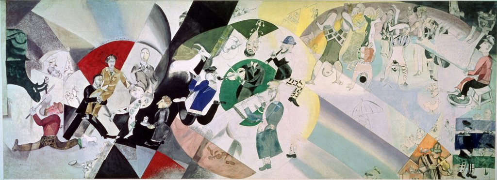 Chagall, Marc (1887-1985) State Tretyakov Gallery, Moscow 1920 283x790 Gouache and Tempera on canvas  : Stock Photo