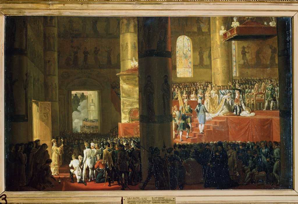 Coronation, by Horace Vernet, oil on canvas, 19th century, 1789-1863, Russia, St. Petersburg , State Russian Museum, 60x95 : Stock Photo