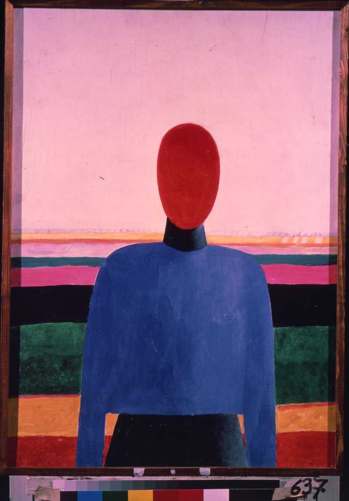 Portrait of woman by Kasimir Severinovich Malevich, oil on plywood , 1928-1932, 1878-1935, Russia, Saint Petersburg, State Russian Museum, 73x52, 5 : Stock Photo