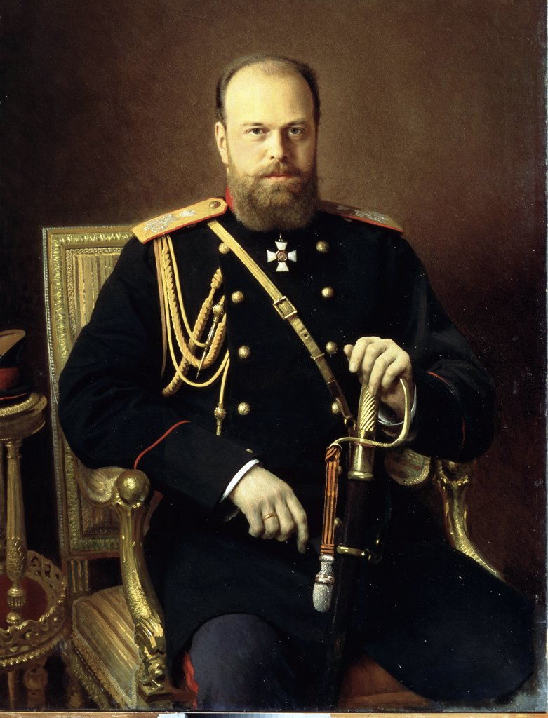 Stock Photo: 4266-13099 Alexander III by Ivan Nikolayevich Kramskoi , Oil on canvas, 1886, 1837-1887, Russia, Saint Petersburg State Russian Museum, 129x91, 5