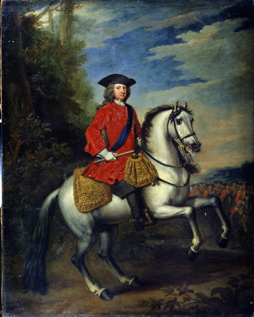 Stock Photo: 4266-13134 Portrait of George I by Sir Gotfrey Kneller, Oil on canvas, 1717, 1646-1723, Russia, St. Petersburg, State Open-air Museum Palace Gatchina, 136, 6x108