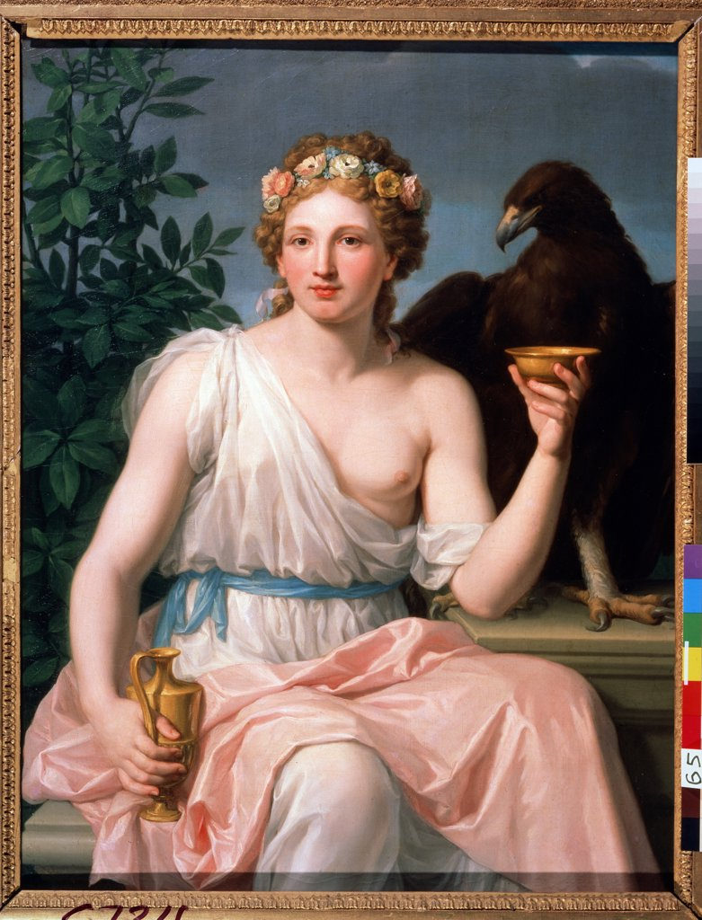 Hebe by Francisco Javier Ramos y Albertos, Oil on canvas, 1784, 1744-1817, Russia, Moscow, State Museum Arkhangelskoye Estate, 103x77, 5 : Stock Photo