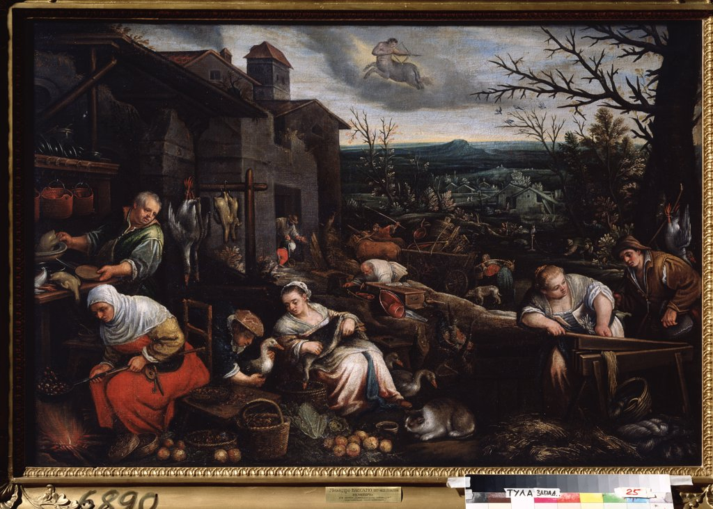 Stock Photo: 4266-13391 Leandro Bassano, oil on canvas, 1557-1622, Russia, Tula, State Art Museum, 80x121