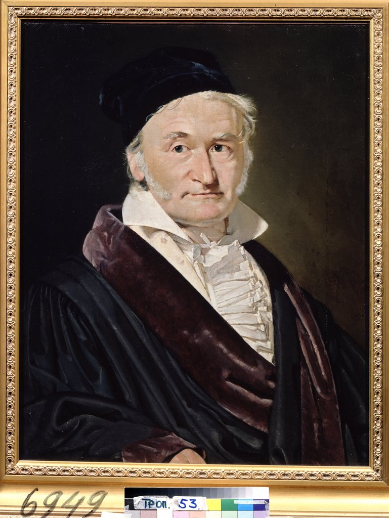Stock Photo: 4266-13435 Portrait of Carl Friedrich Gauss by Christian Albrecht Jensen, oil on canvas, 1840, 1792-1870, Russia, Moscow, State A. Pushkin Museum of Fine Arts, 66x52