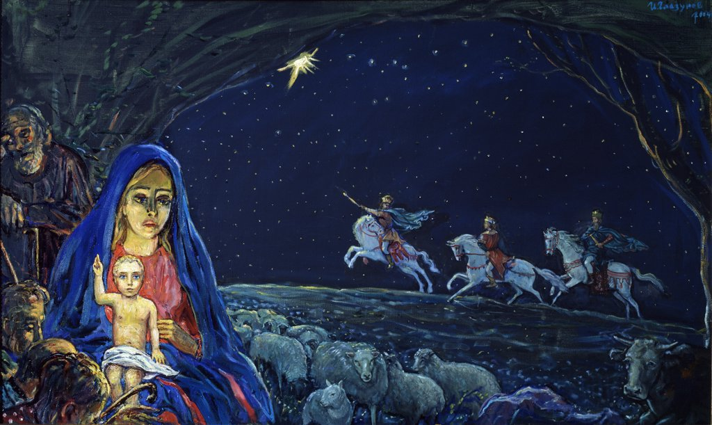 Stock Photo: 4266-13597 Glazunov, Ilya Sergeyevich (*1930) Private Collection 2004 Tempera on canvas Modern Russia Bible
