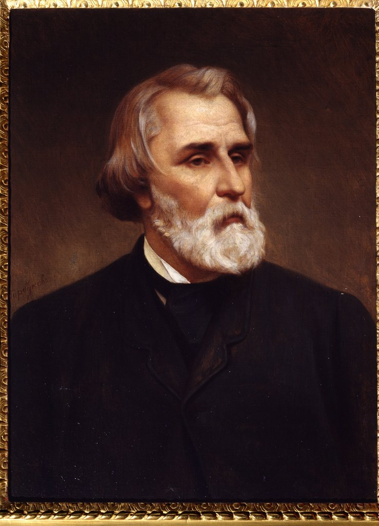 Portrait of Ivan Turgenev by Kirill Antonovich Gorbunov, oil on canvas, 1872, 1822-1891, Russia, St. Petersburg, A. Pushkin Memorial Museum, 71x53, 7 : Stock Photo