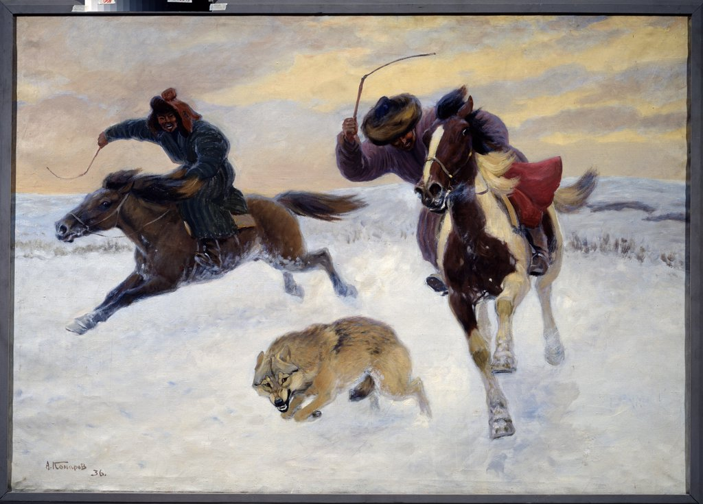 Stock Photo: 4266-13798 Komarov, Alexei Nikanorovich (1879-1977) State Darwin Museum, Moscow 1936 133x190 Oil on canvas Modern Russia Animals and Birds