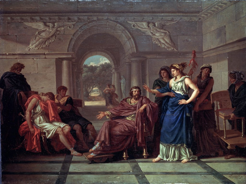 Scene from greek mythology by anonymous painter, painting, Russia, St. Petersburg, State Hermitage, 48x64 : Stock Photo