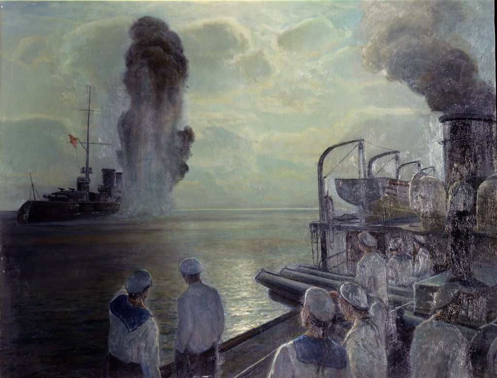 Stock Photo: 4266-14064 Bublikov, Nikolai Evlampievich (1871-1942) State Central Navy Museum, St. Petersburg 1932 106x139 Oil on canvas Soviet Art Russia History