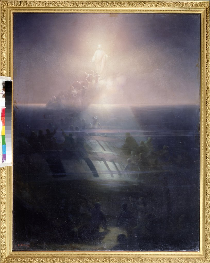 Stock Photo: 4266-14068 Mystery by Ivan Konstantinovich Aivazovsky, oil on canvas, 1858, 1817-1900, Russia, St. Petersburg, State Central Navy Museum, 102x81